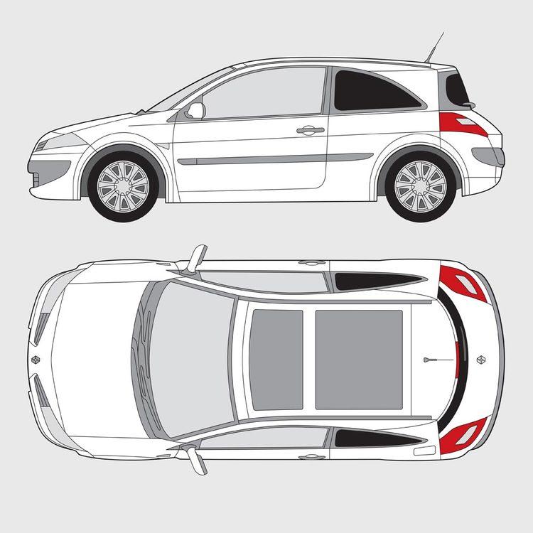 Renault Megan 3-dörrar 2002-2008