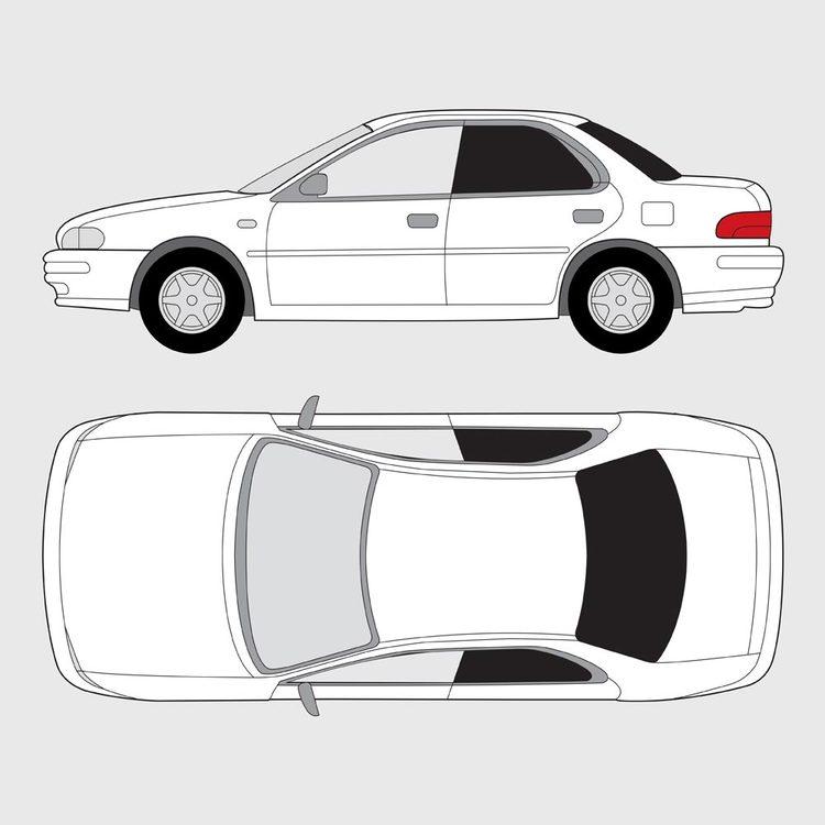 Subaru Impreza 4-dörrar 2000-2005