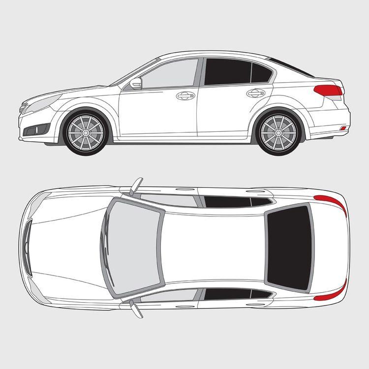 Subaru Legacy 4-dörrar 2009-2015