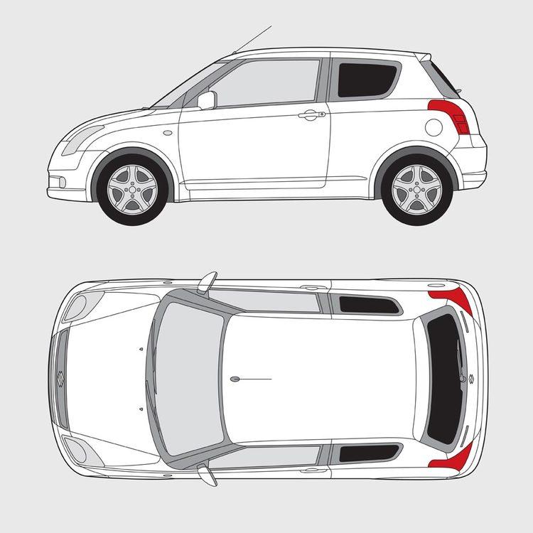 Suzuki Swift 3-dörrar 2005-2010