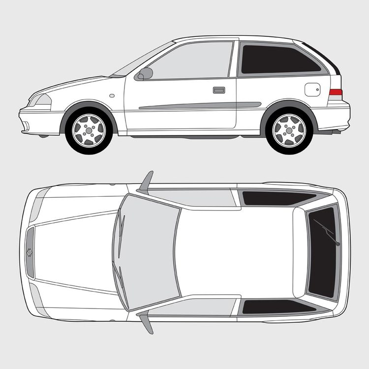 Suzuki Swift 3-dörrar 2002-2005