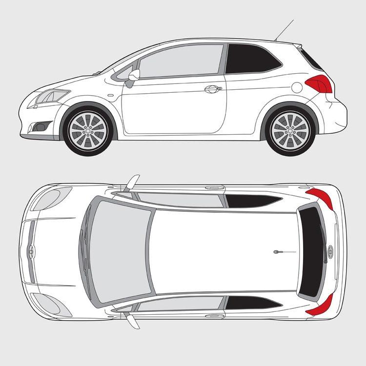 Toyota Auris 3-dörrar 2007-2013