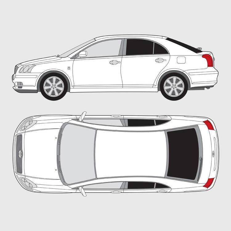 Toyota Avensis 5-dörrar 2003-2009