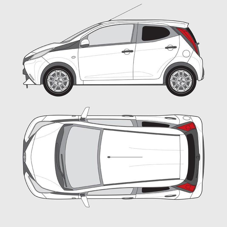Toyota Aygo 5-dörrar 2014-2018