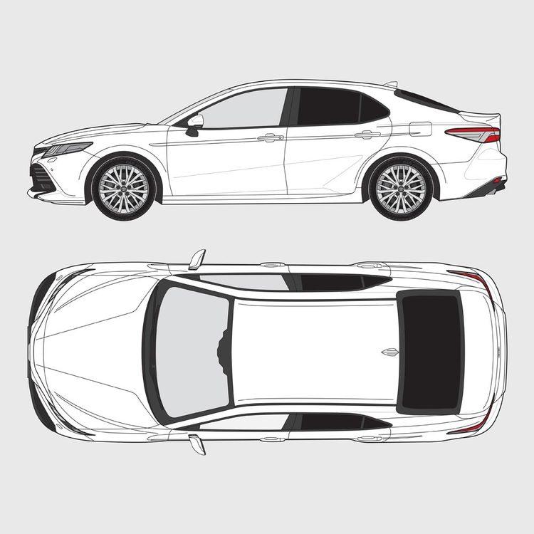 Toyota Camry 4-dörrar 2019-