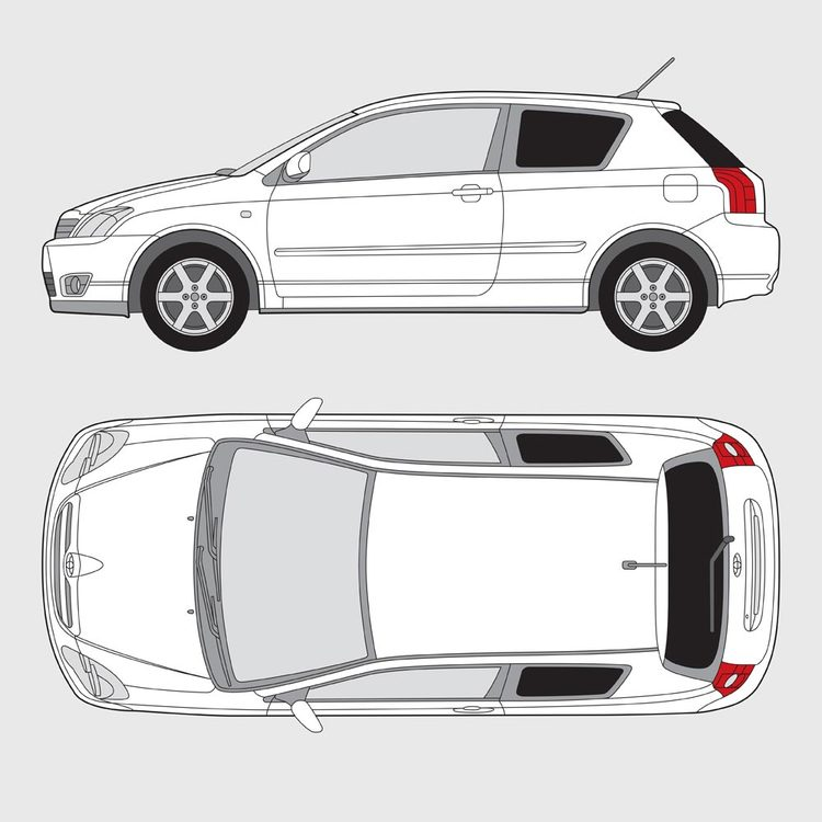 Toyota Corolla 3-dörrar 2002-2007