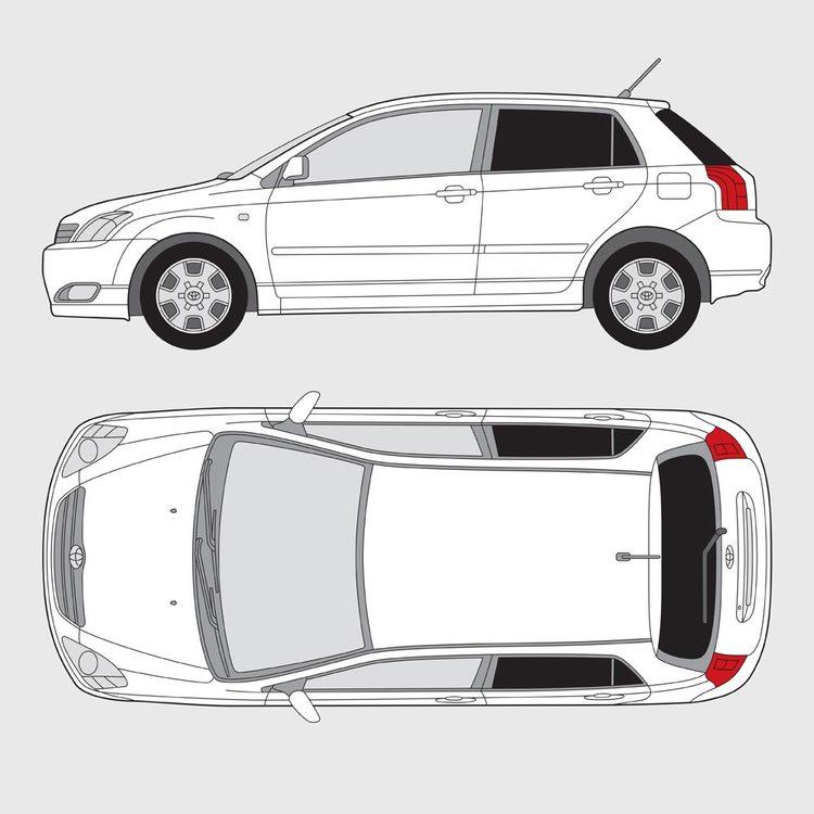 Toyota Corolla 5-dörrar 2002-2007
