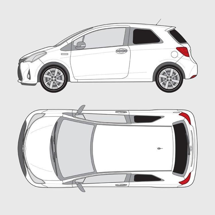 Toyota Yaris 3-dörrar 2014-