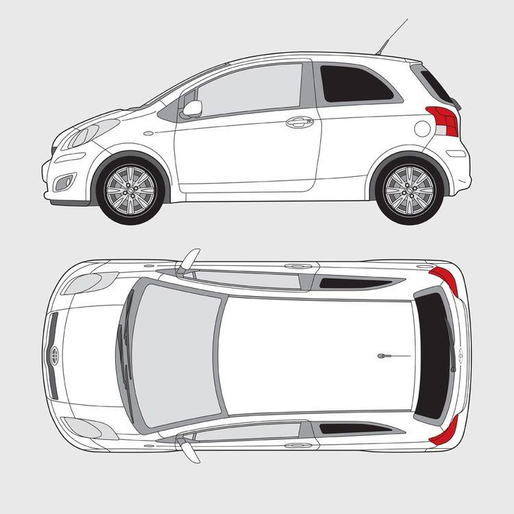 Toyota Yaris 3-dörrar 2009-2014