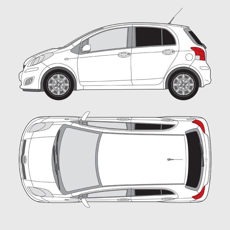 Toyota Yaris 5-dörrar 2009-2014