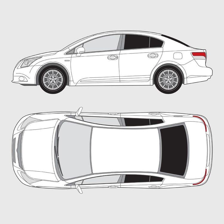 Toyota Avensis 4-dörrar 2009-2015