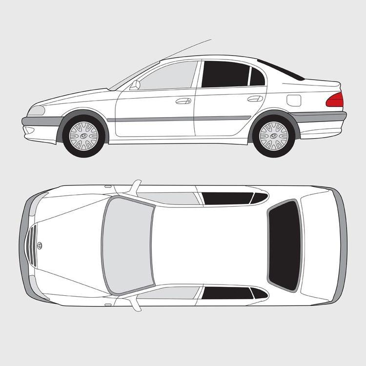 Toyota Avensis 4-dörrar 2003-2009
