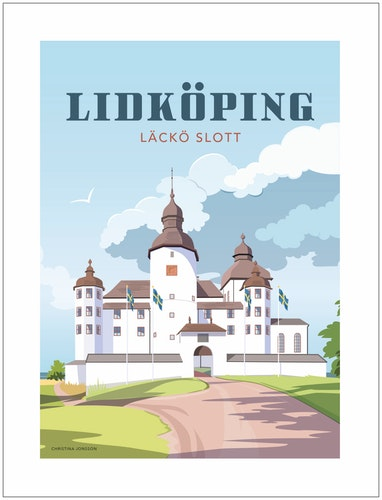 Lidköping Läckö slott 30x40 print