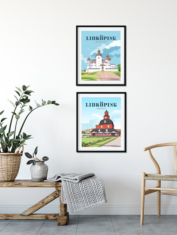 Lidköping Limtorget 30x40 print