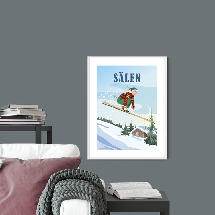 Sälen Jump 30x40 print