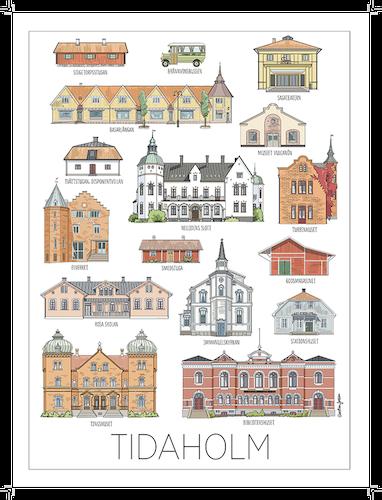 Tidaholms hus 50x70 poster