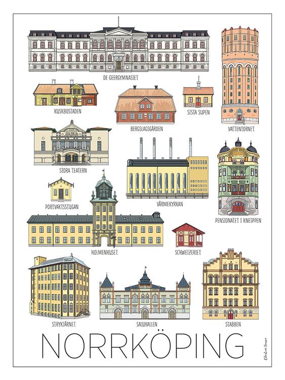 Norrköpingshus kort 15x20 cm