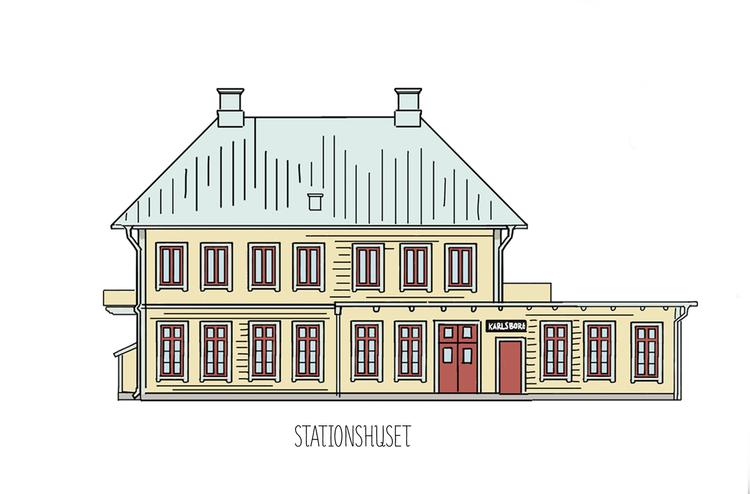 Karlsborgshus bricka 32x32