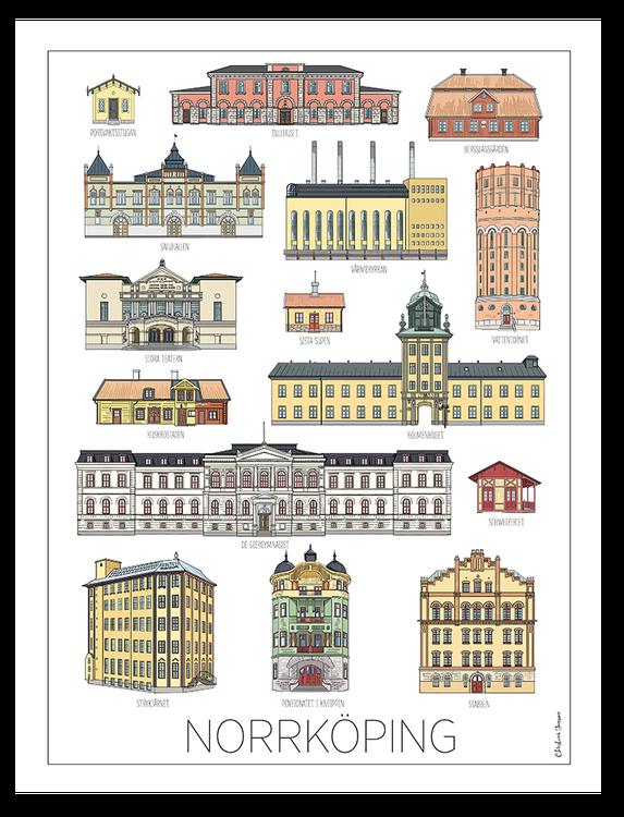 Norrköpingshus poster 50x70