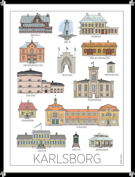 Karlsborgshus poster 50x70