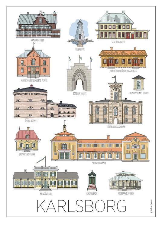 Karlsborgshus tavla 30x40