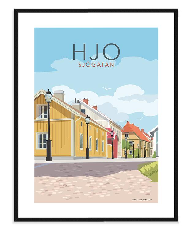 Hjo Sjögatan 30 x40 tavla