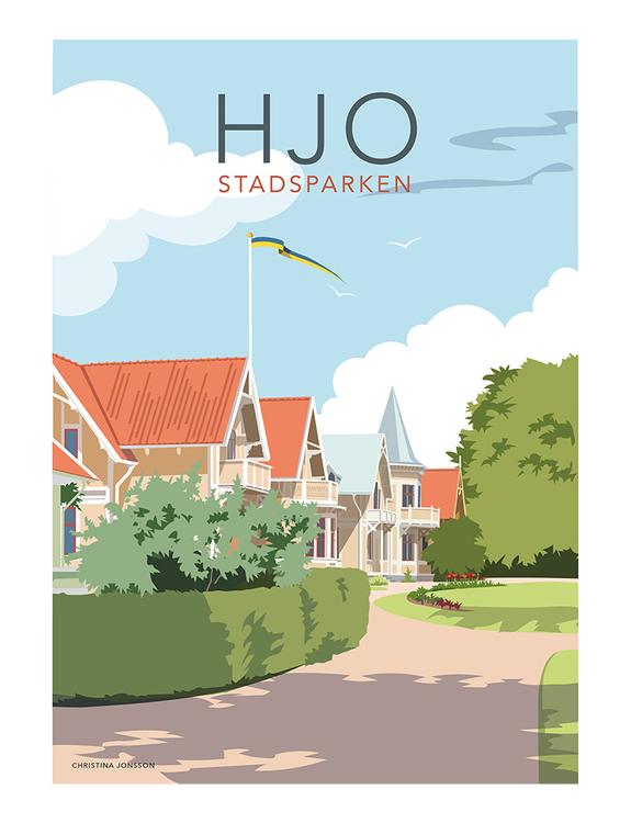 Hjo Stadsparken 30x40 print