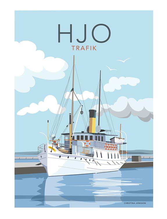 Hjo Trafik 30x40 print