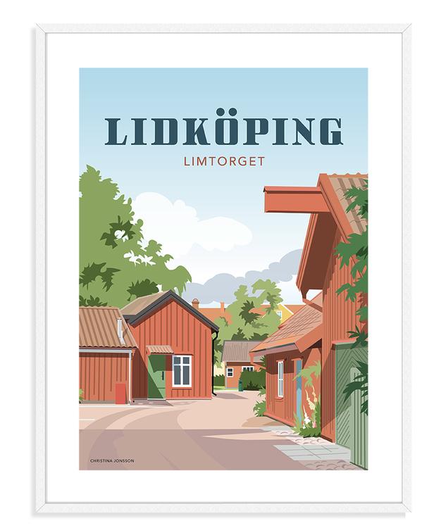 Lidköping Limtorget 30x40 tavla