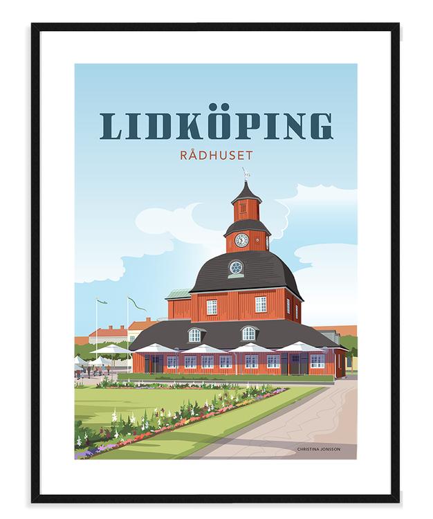 Lidköping Rådhuset 30x40 tavla