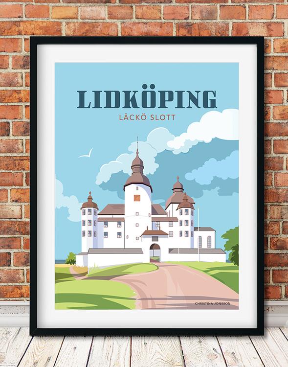 Lidköping Läcko slott 30x40 tavla