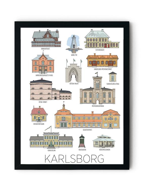 Karlsborgshus minitavla 15x20