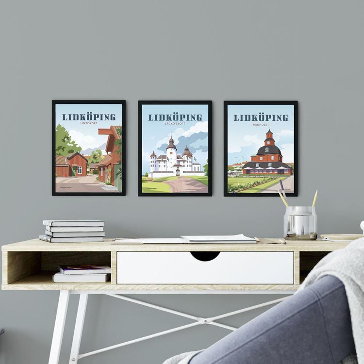 Lidköping Limtorget 15x20 minitavla