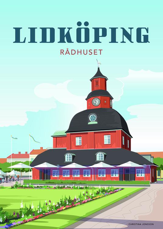 Lidköping Rådhuset 15x20 minitavla