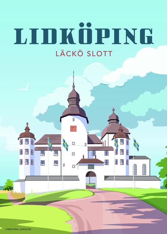 Lidköping Läckö 15x20 minitavla