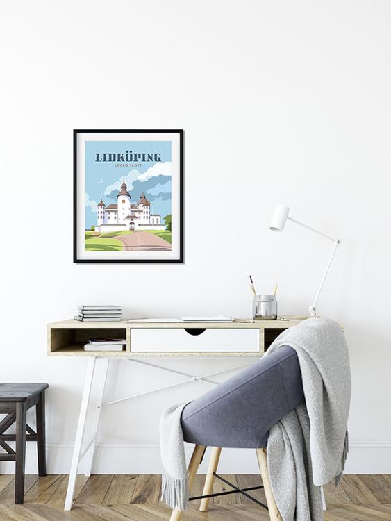 Lidköping Läckö slott 50x70 print