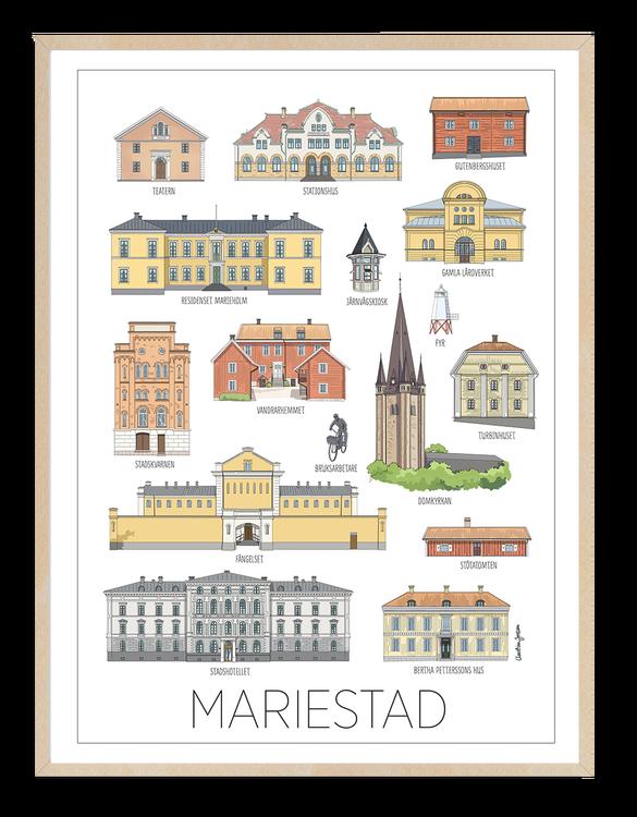 Mariestads hus 30x40 tavla, 3 varianter