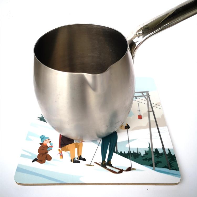 Grytunderlägg Hot cocoa 21x21