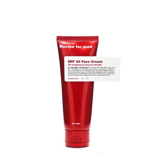 Recipe for Men - SPF 30 Face Cream 75ml