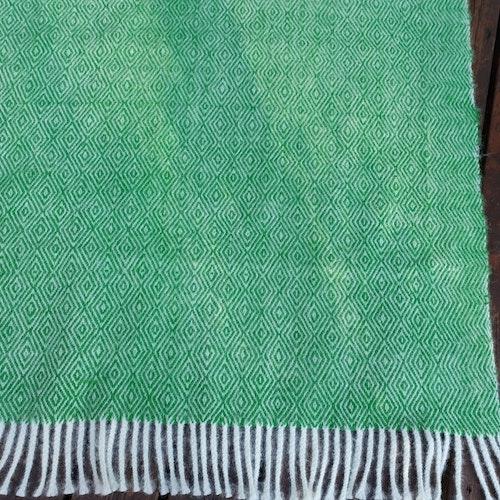 Ullpläd grön