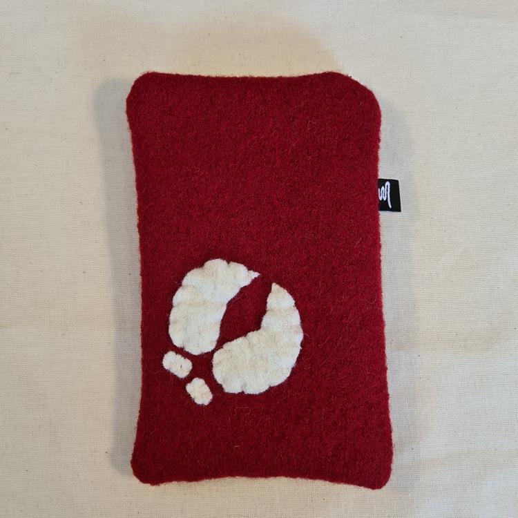 Mobilfodral röd 11x18,5