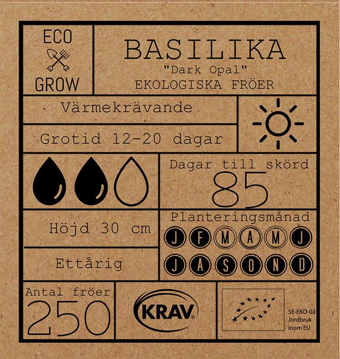 Basilika Dark Opal Fröpåse