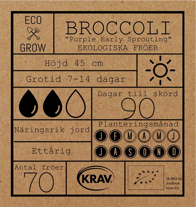 Broccoli Purple Early Sprouting Fröpåse