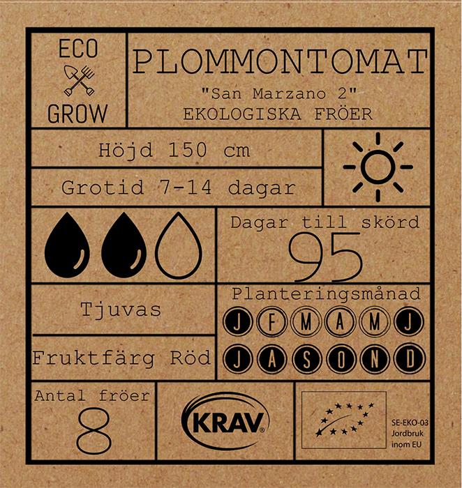Plommontomat Fröpåse