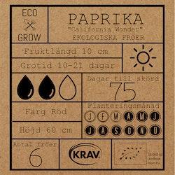 Paprika Fröpåse