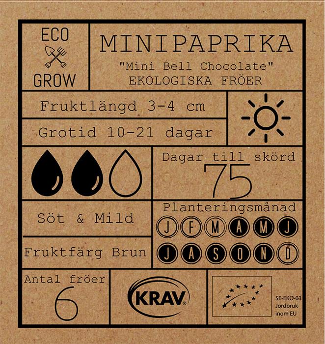 Minipaprika Fröpåse