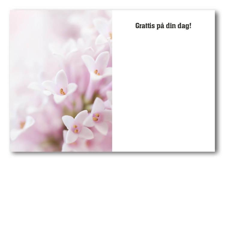 Grattiskort - Pink-Flower