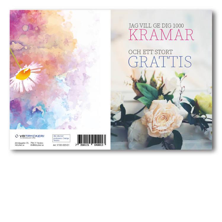 Grattiskort - White Rose V100.005-01