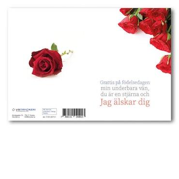 Grattiskort - Red Roses