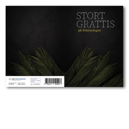 Grattiskort - Black Birthday